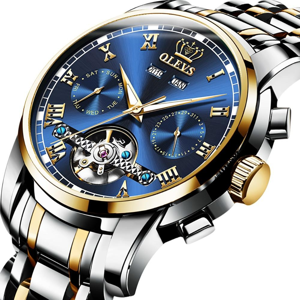 Men's OLEVS 6607 Automatic Mechanical Multi-function With Waterproof Watch