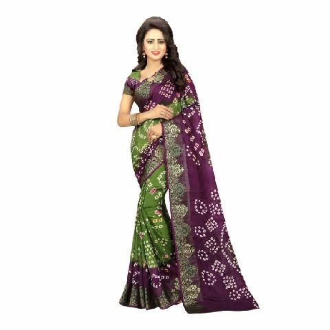 Bandhani Indian Saree Art Silk