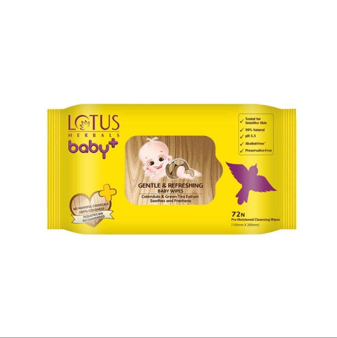 Lotus Herbals Gentle and Refreshing Baby wipes (72N) (400gm) মূল্য...
