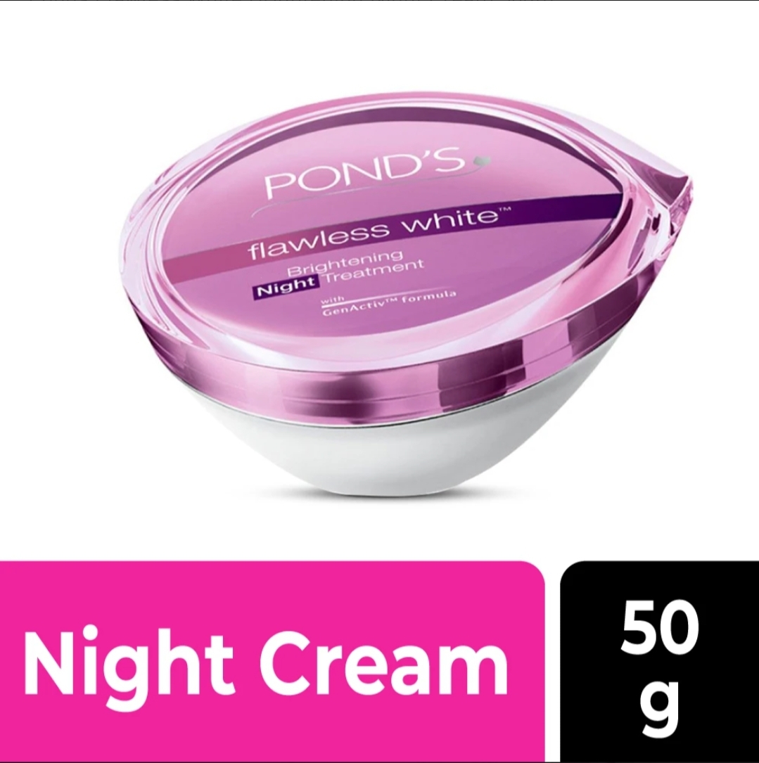 PONDS FLAWLESS WHITE BRIGHTENING NIGHT CREAM 50GM মূল্য ৬৫০ টাকা