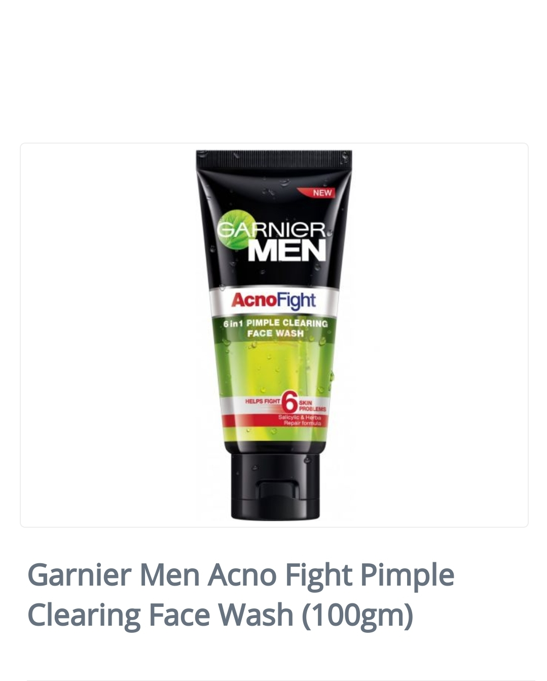 Garnier Men Acno Fight Pimple Clearing Face Wash (100gm)  Brand:...
