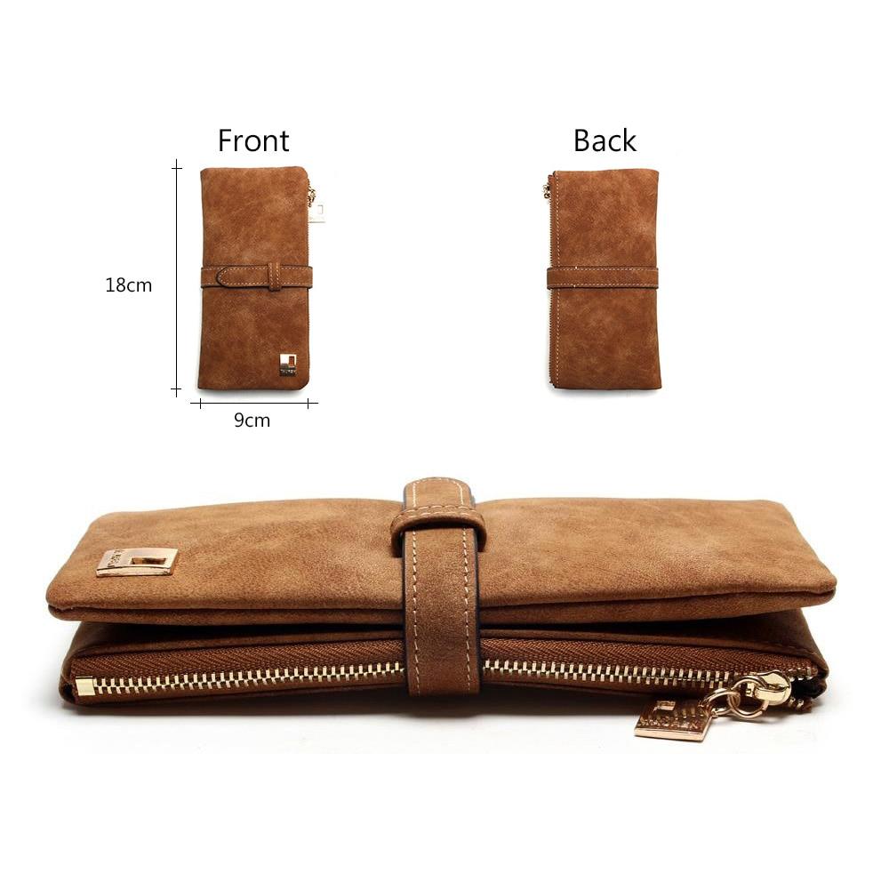 Leather Zipper Long Women Wallet
