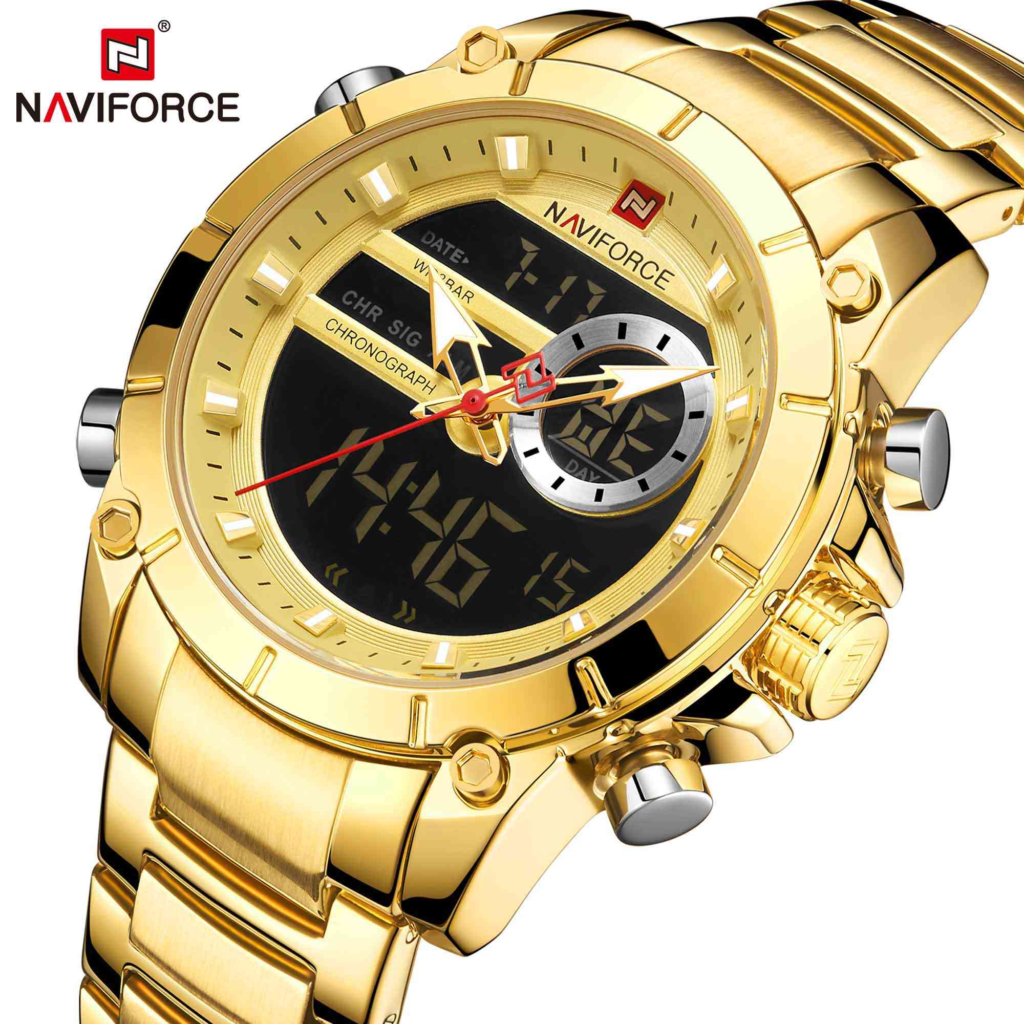 Naviforce NF9163 Men's DUAIL Watch