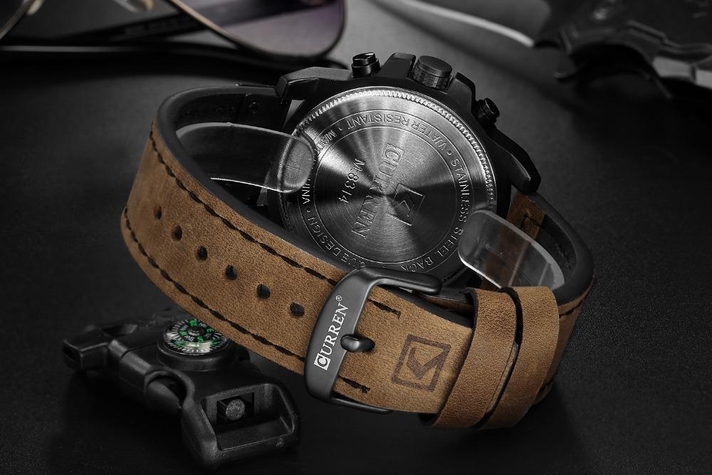 Casual Waterproof Watch-CURREN 8314(Military Waterproof Leather Sport Watch)