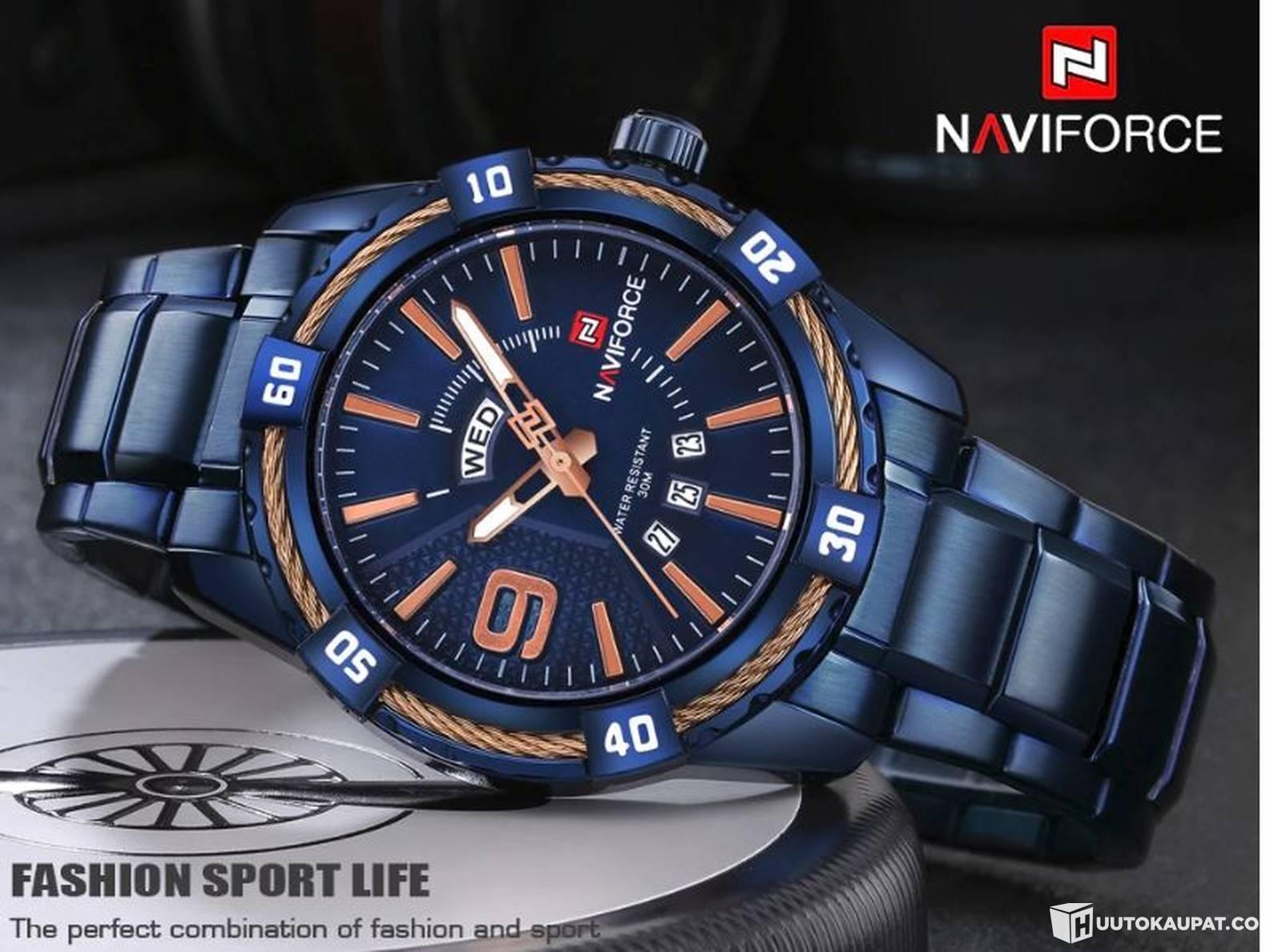 Luxury Brand Full Steel Quartz Watches FOR MAN-NAVIFORCE 9117