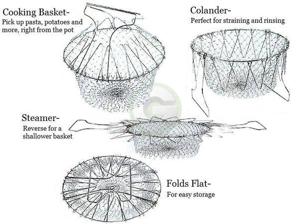 Floatable Chef Basket Strainer Net Kitchen Cooking Tool