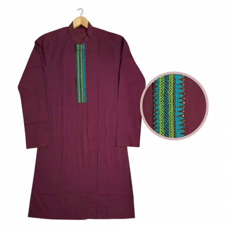 Hand Embroidery Cotton Gent's Panjabi