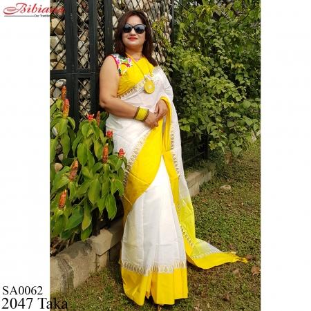 Half Silk Plain Saree