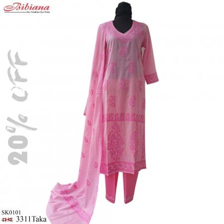 Hand Embroidery Cotton Salwar Kamiz Dopatta