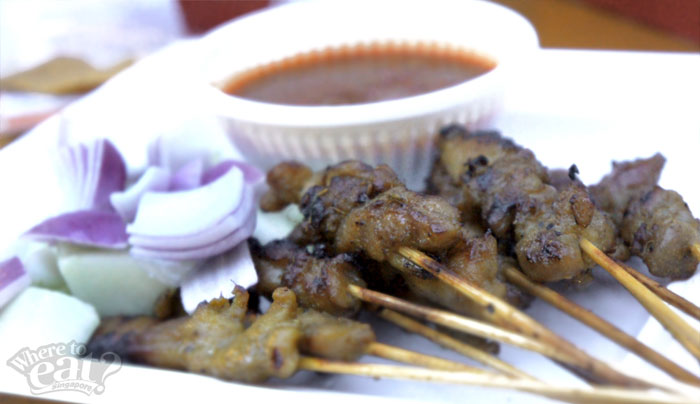 Satay Chicken or Lamb (12 stick) with Condiments