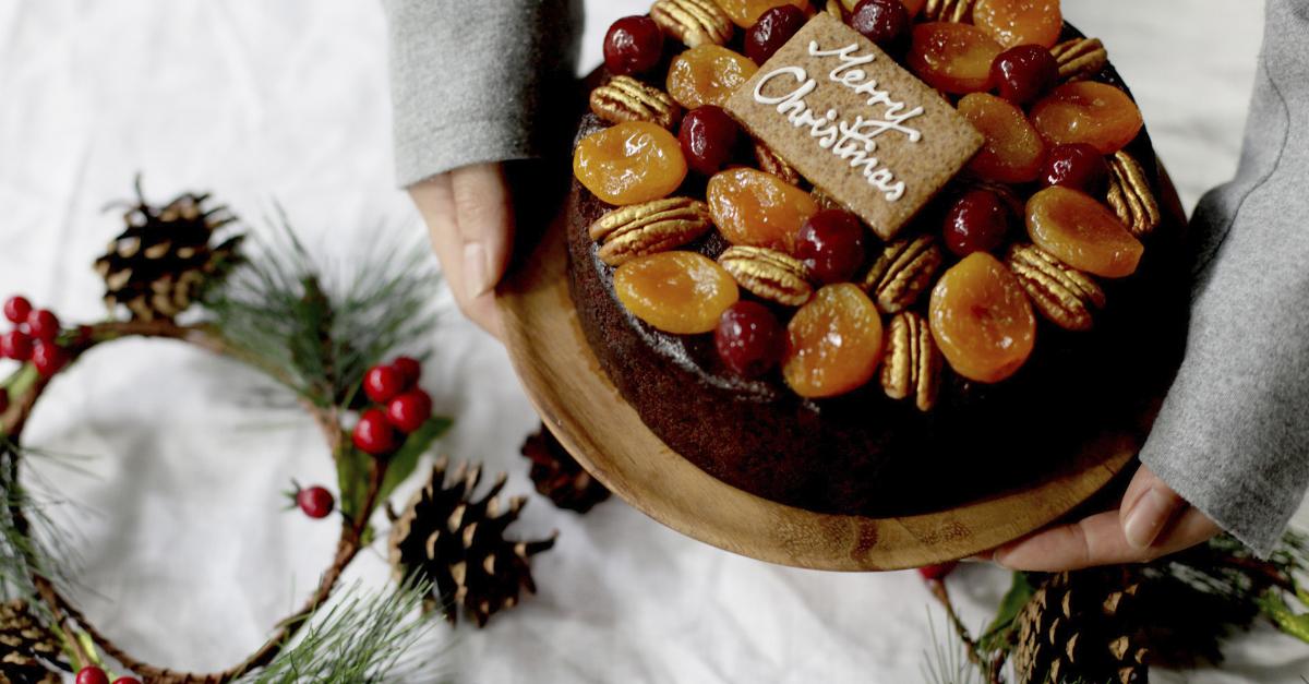 Spiced Dark Chocolate Cointreau Fruit Cake
