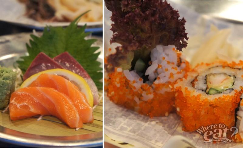 Salmon Sashimi & Prawn Tempura Roll Sushi