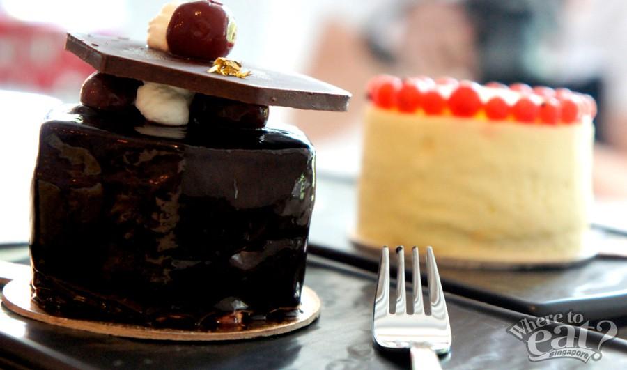 Foret Noir Cake (Front), Monet Cake (Back)