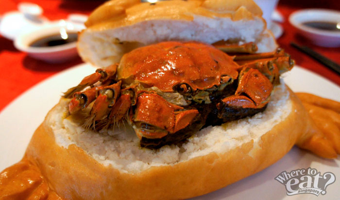 Sea Salt Baked Hairy Crab in Golden Pillow