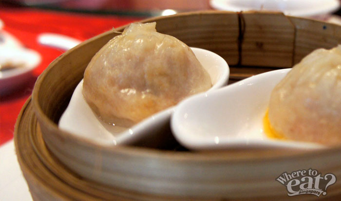 Steamed 'Xiao Long Bao' with Hairy Crab Golden Roe