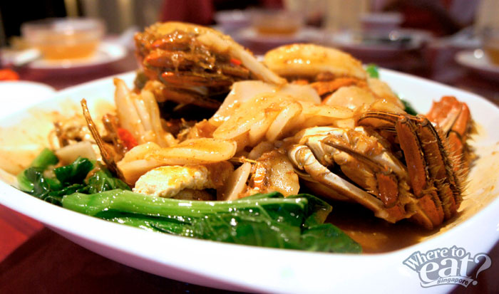 Wok Fried 'Shanghai' Nian Gao with Hairy Crab in XO Sauce