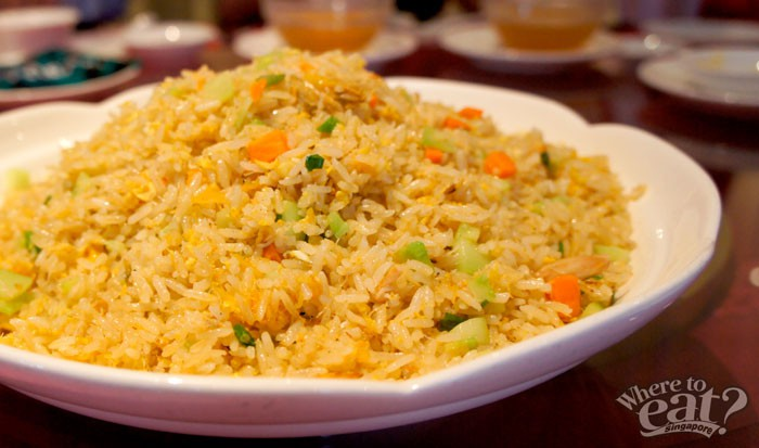 Wok Tossed Fragrant Rice with Hand Peeled Crabmeat