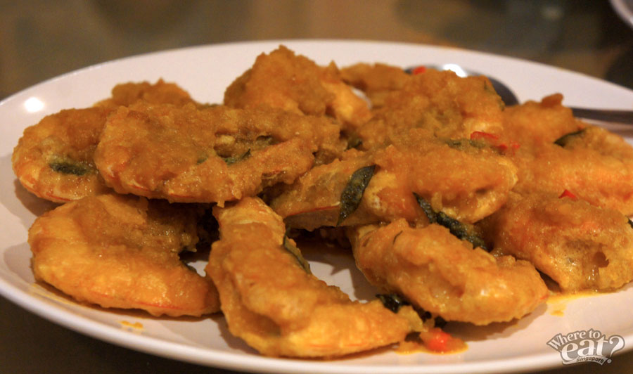 Golden Salted Egg Prawn