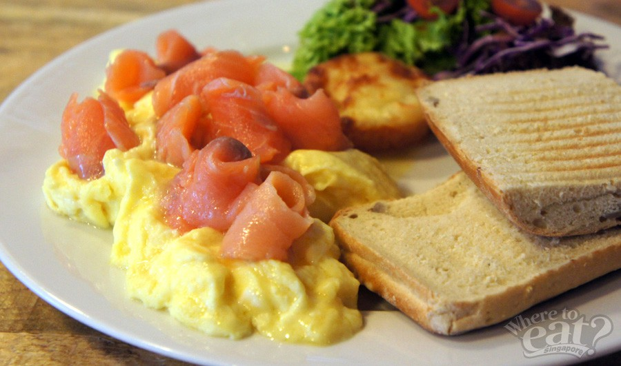 Norwegian Smoked Salmon Scrambled Eggs