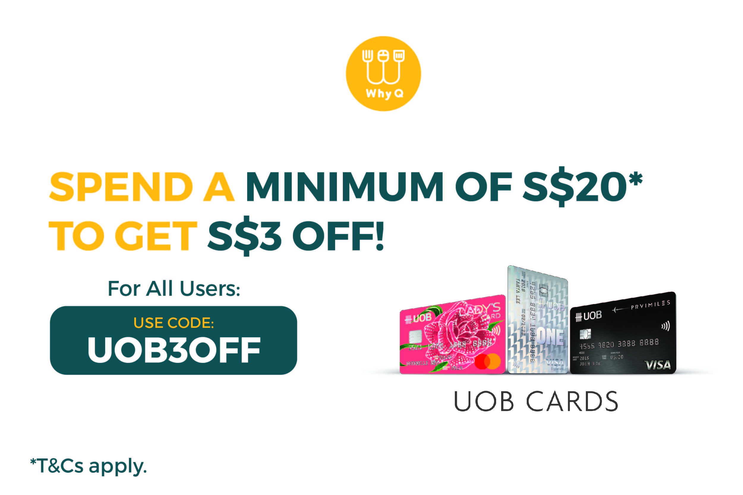 WhyQ Promotion UOB3OFF