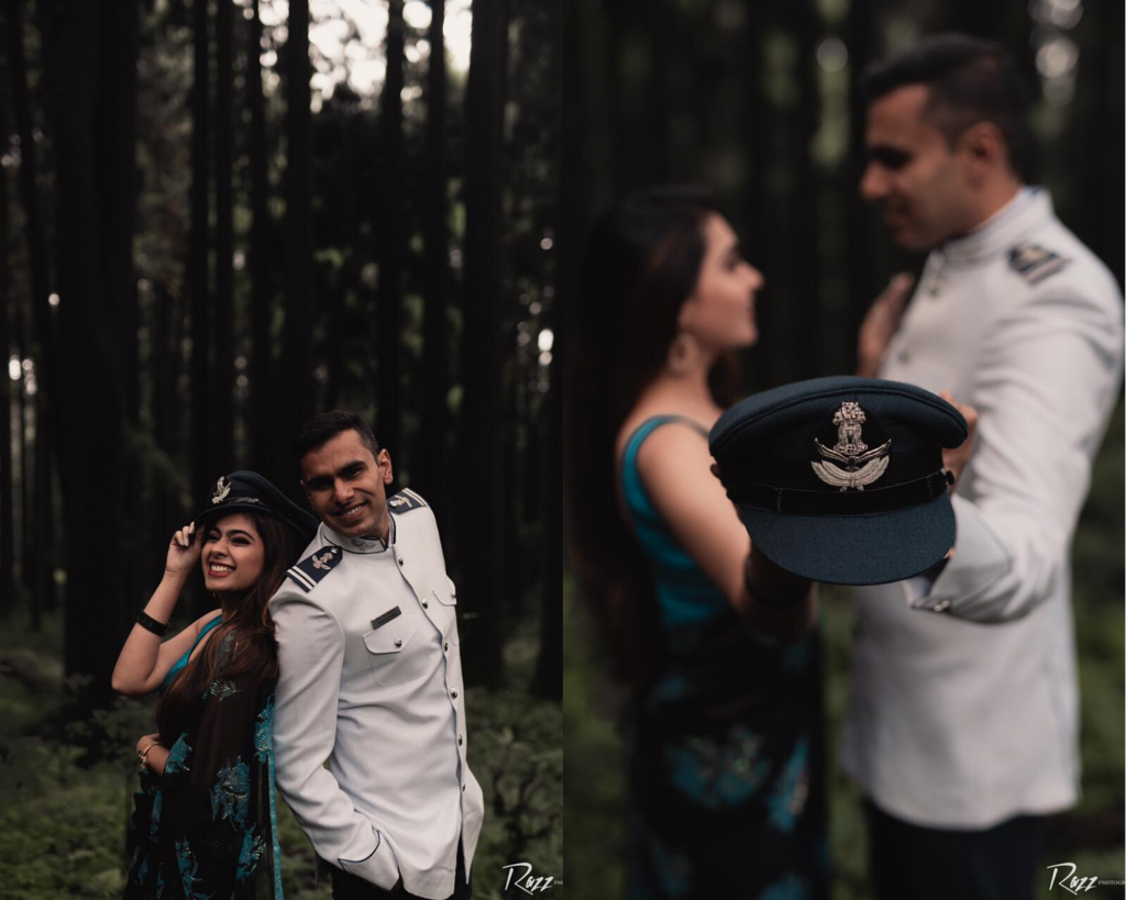 Indian Air Force Office Pre Wedding Shoot in Sikkim