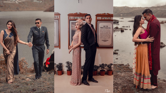 Indian Air Force Office Pre Wedding Shoot In Sikkim With 9 Beautiful Themes
