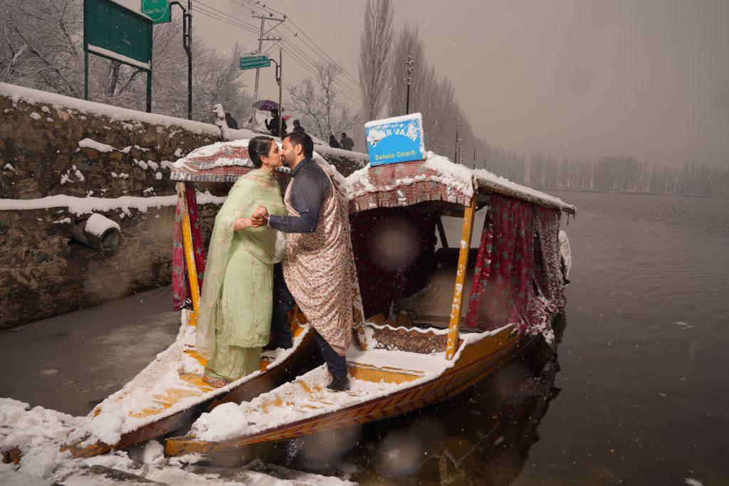 Pre-Wedding Shoot at Dal Lake Kashmir