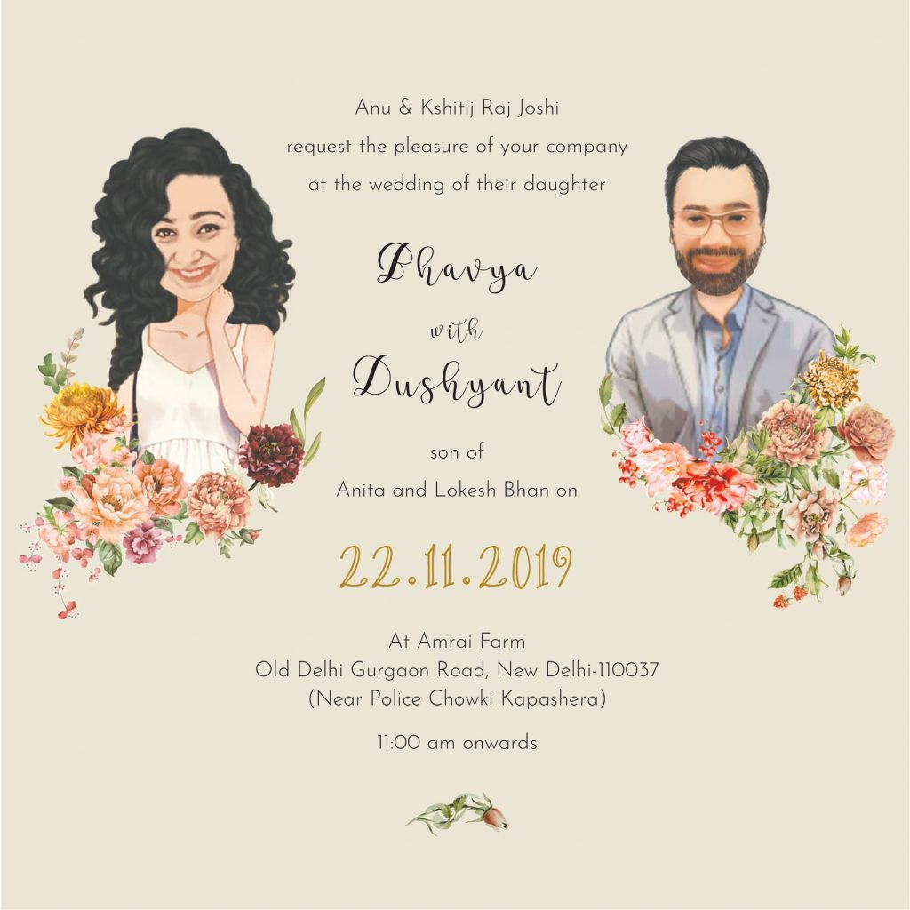 Caricature Wedding Invite