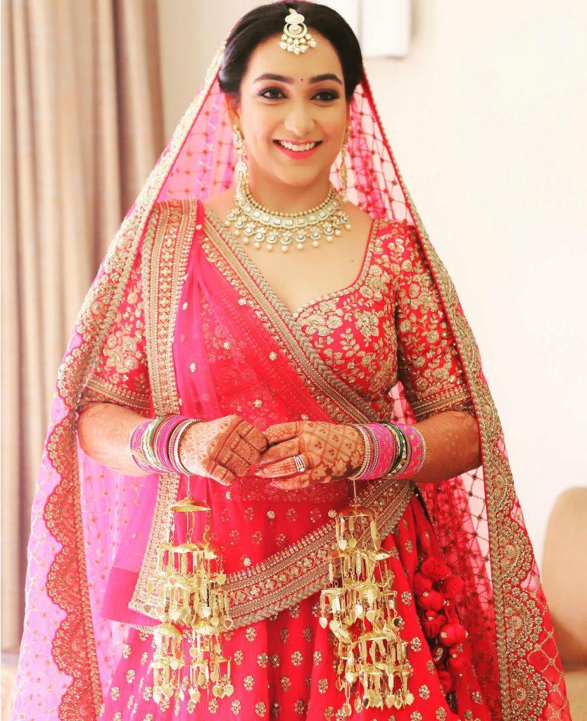 Minimalistic Sabyasachi Bride in Red lehenga