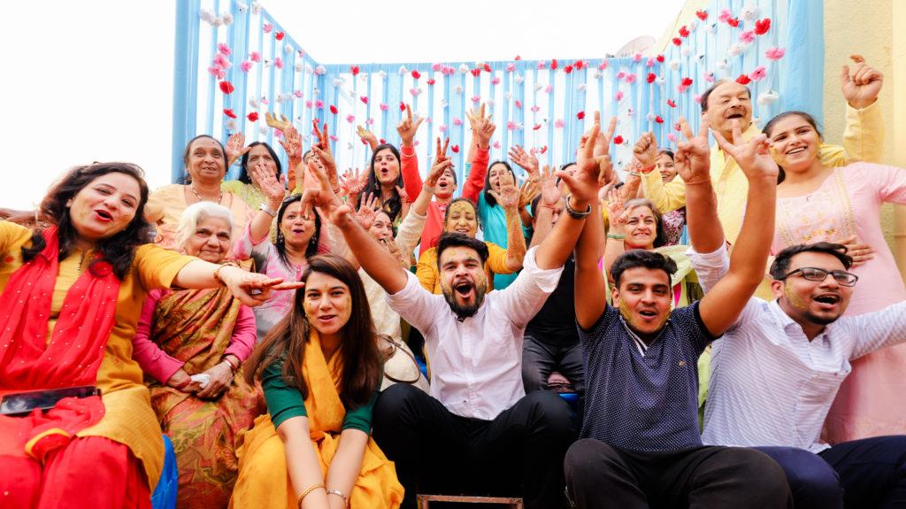 Fun filled Haldi ceremony