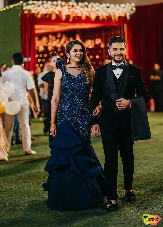 Bride & Groom Wedding Reception Outfits