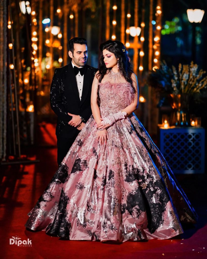 Engagement Outfits of Bride & Groom