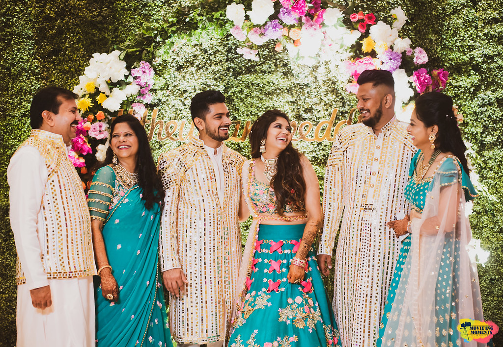 Coordinated Mehendi Outfits