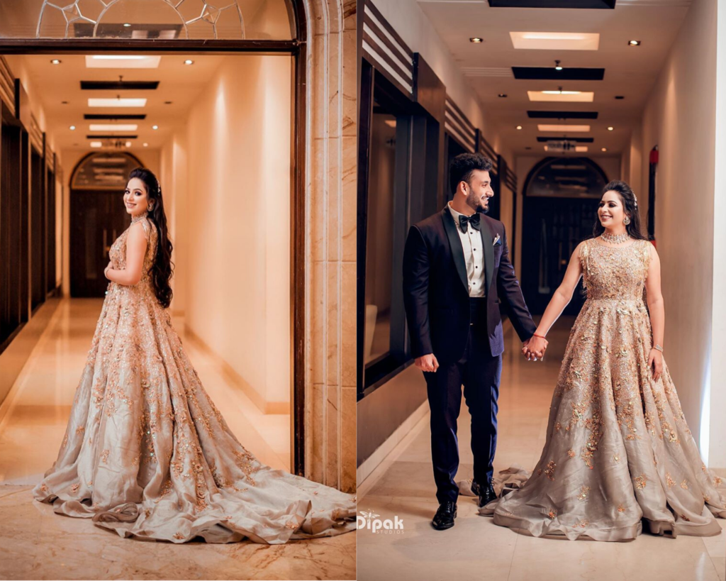 Indian Bride & Groom Cocktail Outfits