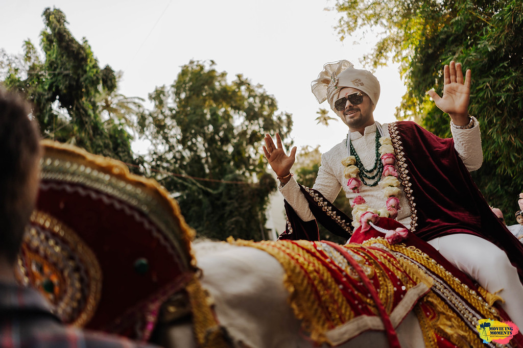 Indian groom entry