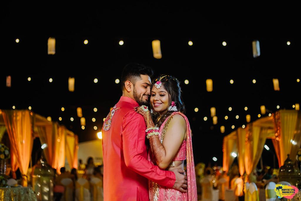 Bride & groom haldi ceremony outfits
