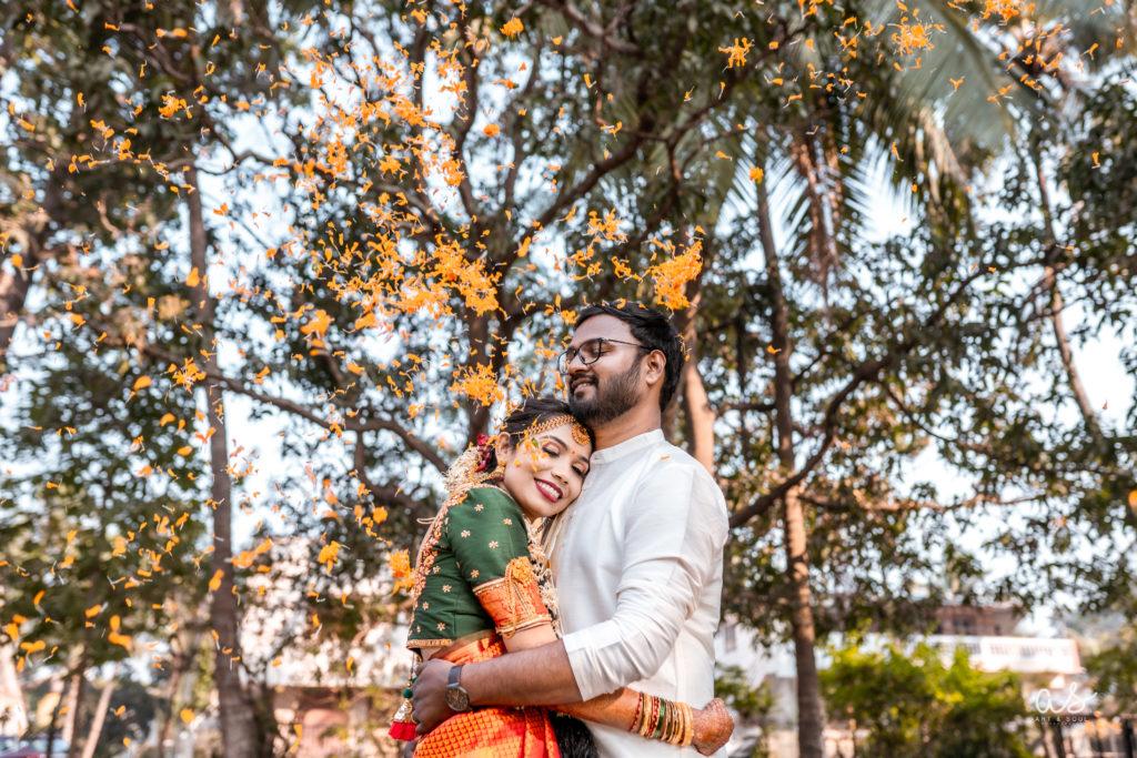 Cross cultural wedding of South Indian bride & Maharashtrian groom
