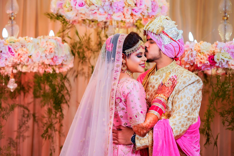 Indian bride & groom wedding portraits