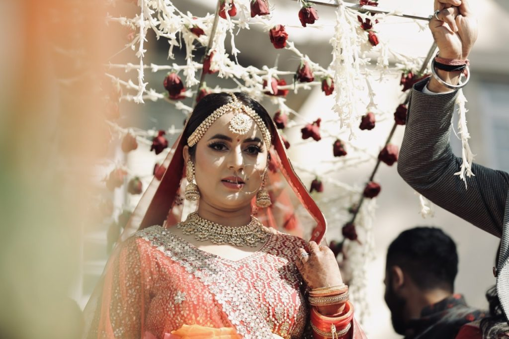 Indian bride entry