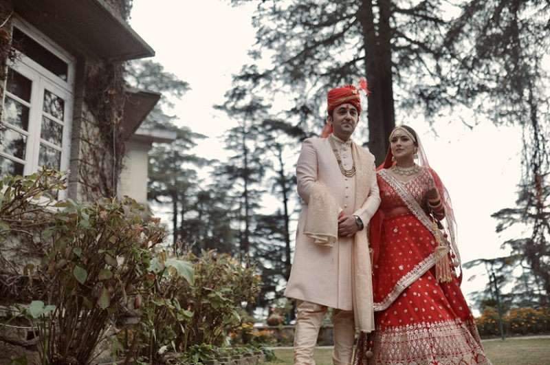 Indian bride & groom from Shimla Wedding