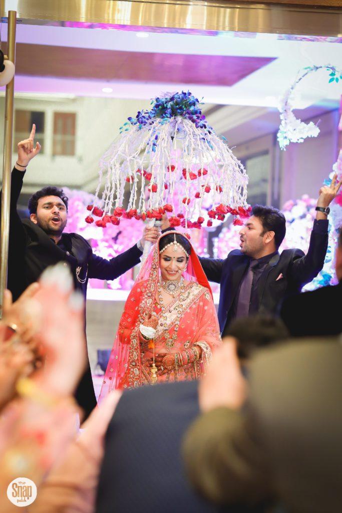 Indian bride entry