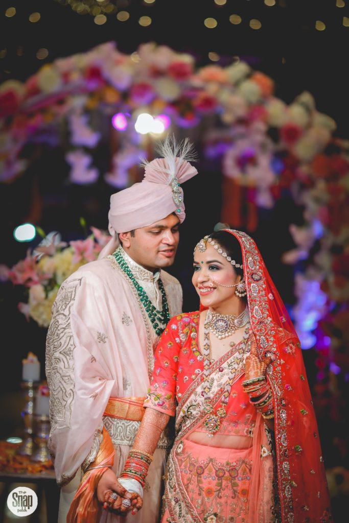 Delhi bride & groom