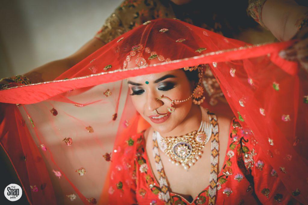 Indian bride in veil