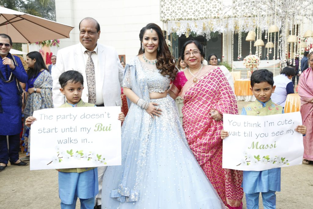Indian bride entry for Sagan & Sangeet Ceremony
