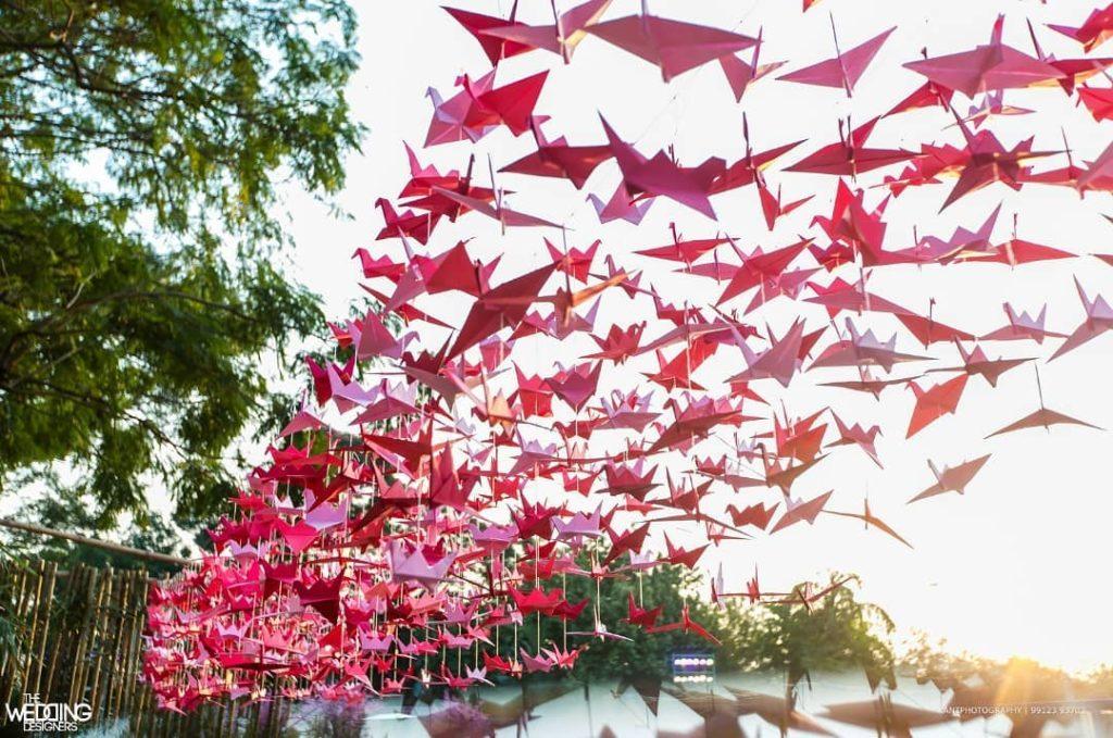 Origami wedding decor
