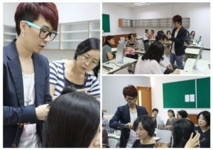 Photo montage of Edward Kim Hair Academy