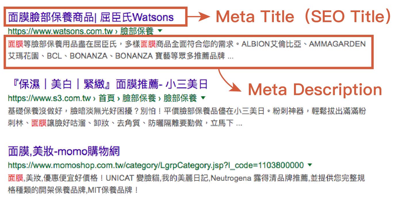 html meta tags 示意