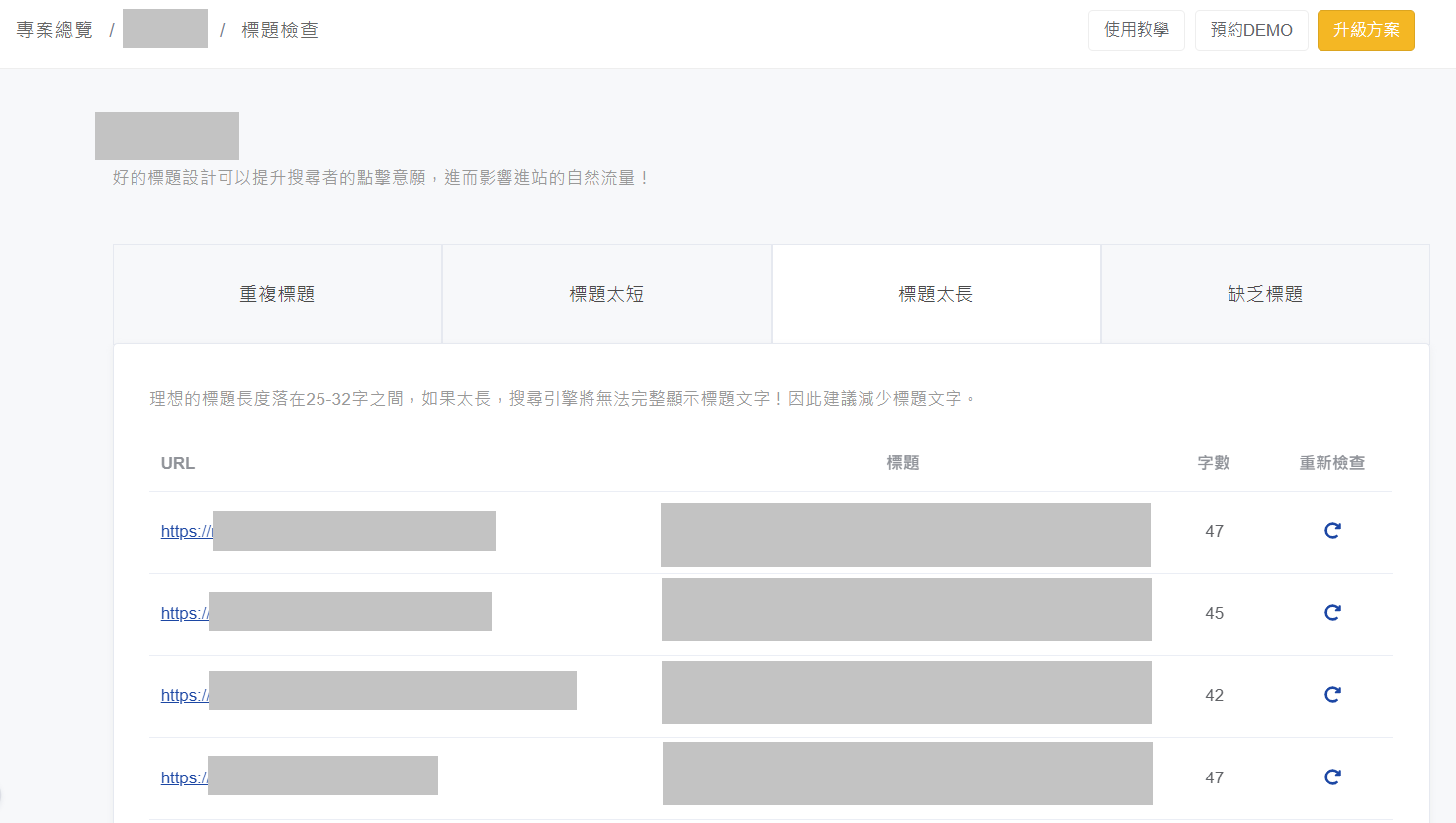 Ranking 軟體工具:SEO 優化檢查