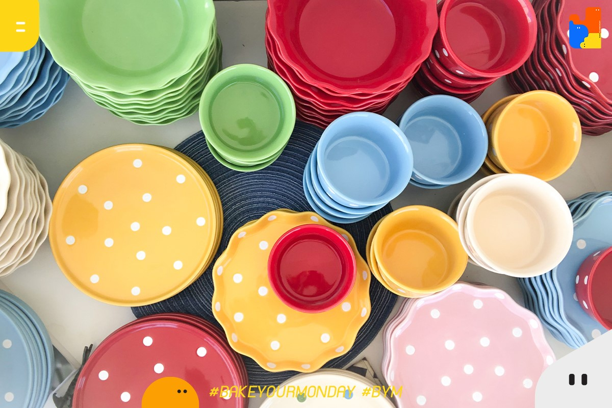 BakeyourMonday pokadot ceramic