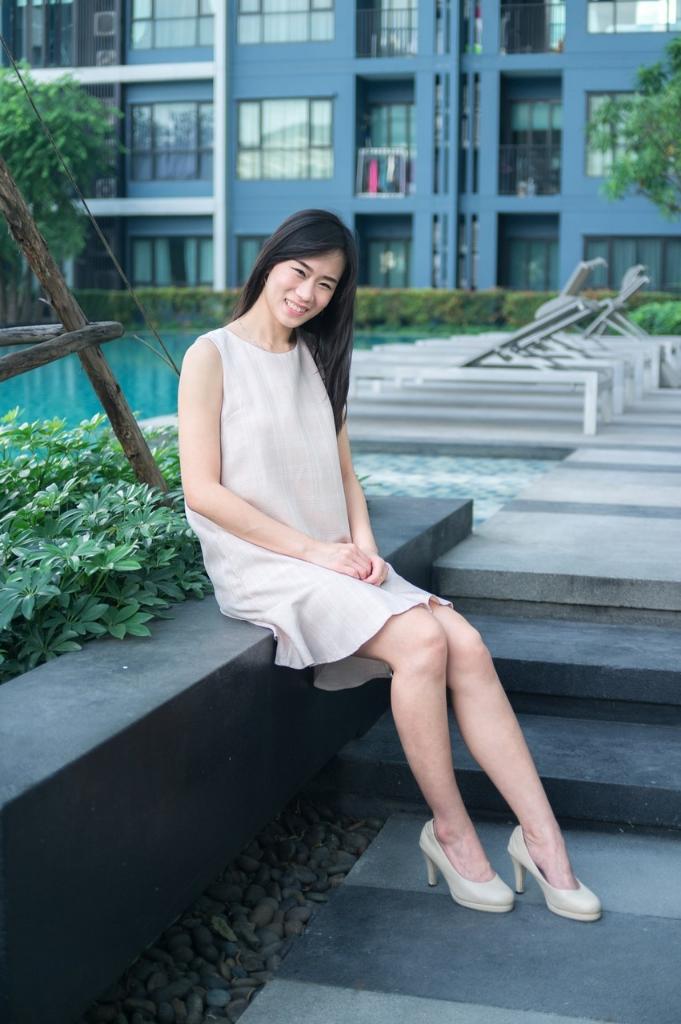 [ Plaid peplum dress - 590 THB ]